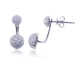Diamond Back & Front Earrings