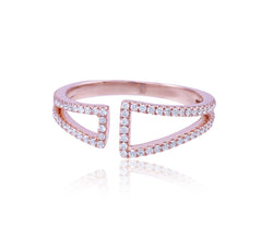 Double Edge Diamond Ring