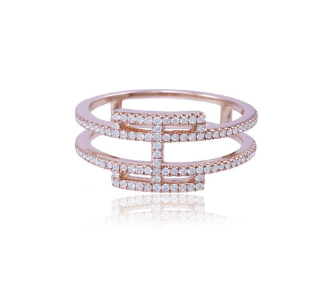 Diamond Gate Ring