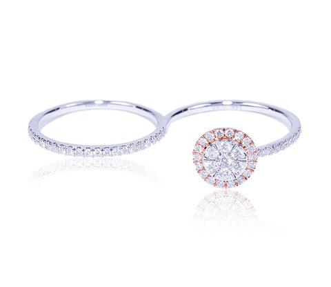 Diamond Two-Finger Ring