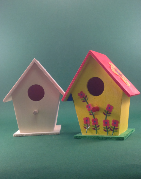 Gifts - Paint your own wooden children's crafts - Small bird house