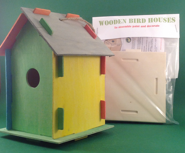 Gifts - Paint your own wooden children's crafts - Large bird house
