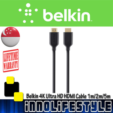 Belkin Gold-Plated High-Speed HDMI Cable with Ethernet 4K/Ultra HD Compatible