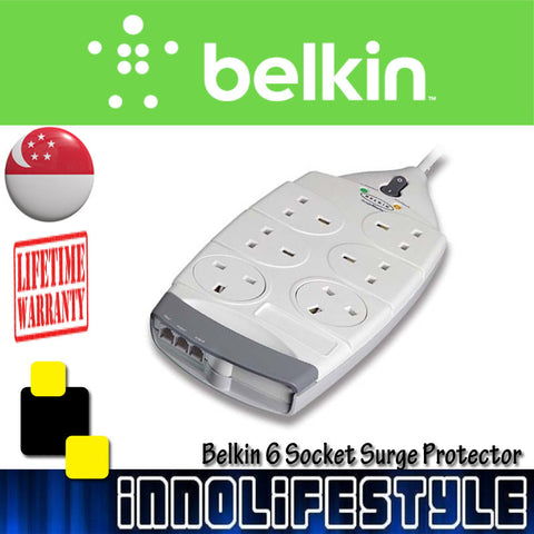 Belkin Superior Series 6-Socket Surge Protector ★Lifetime Warranty★