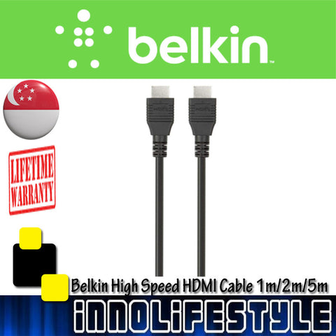 Belkin High Speed HDMI® Cable with Ethernet. 1m/2m/5m.