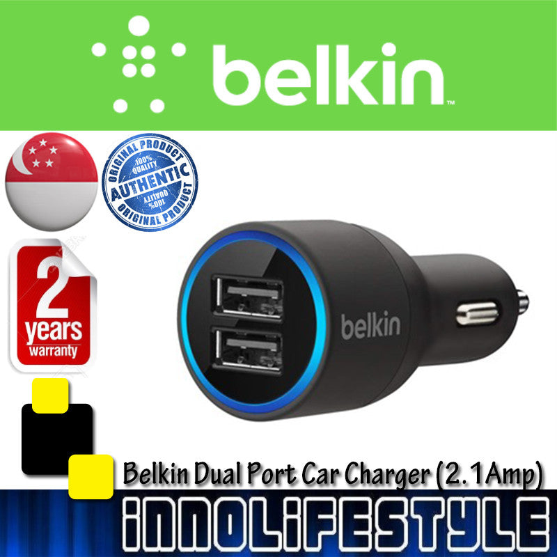 Belkin Dual Port USB Car Charger ★2 Years Warranty★