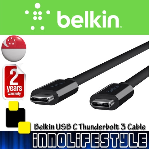 Belkin USB-IF Certified USB-C to USB-C USB 3.1 Thunderbolt 3 Cable ★2 Years Warranty★