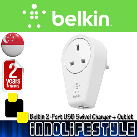 Belkin BOOST↑UP™ 2-Port USB Swivel Charger + Outlet ★2 Years Warranty★