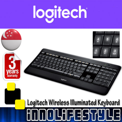 Logitech K800 Wireless Illuminated Keyboard ★3 Years Warranty★