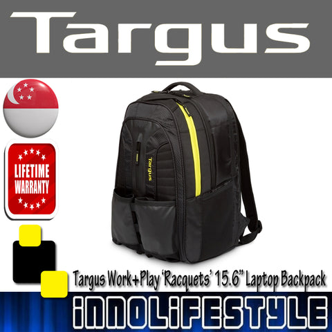 Targus® Work+Play 'Racquets' 15.6 Laptop Backpack ★Lifetime Warranty★