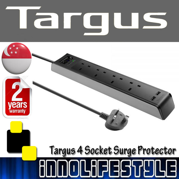 Targus 4/6 Socket Surge Protector with USB Port