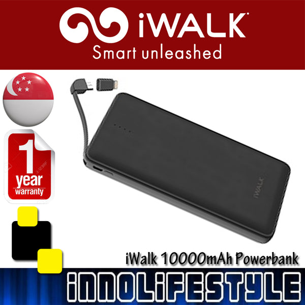 iWalk 10000mAh Powerbank built in Micro USB/ Lightning ★1 Year Warranty★