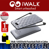 iWalk Trio 2 10000mAh Powerbank with built in Cables and Smart LCD ★1 Year Warranty★