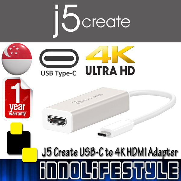 J5 Create JCA153 USB-C to 4K HDMI Adaptor ★1 Year Warranty★