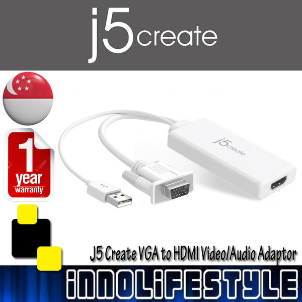 J5 Create JDA214 VGA to HDMI Video Audio Adapter ★1 Year Warranty★