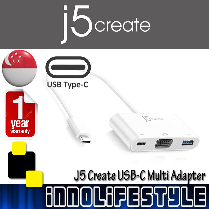 J5 Create JCA378 USB-C VGA + USB 3.0 with Power Delivery ★1 Year Warranty★
