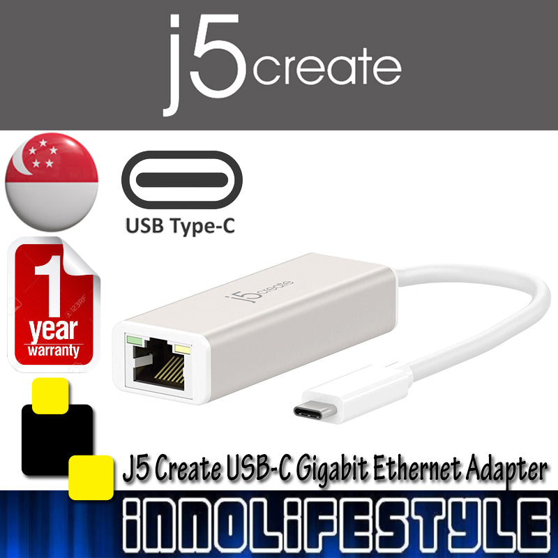 J5 Create JCE131 USB-C Gigabit Ethernet Adapter ★1 Year Warranty★