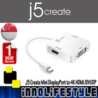 J5 Create JDA173 Mini DisplayPort to 4k DisplayPort/4k HDMI/DVI Adaptor