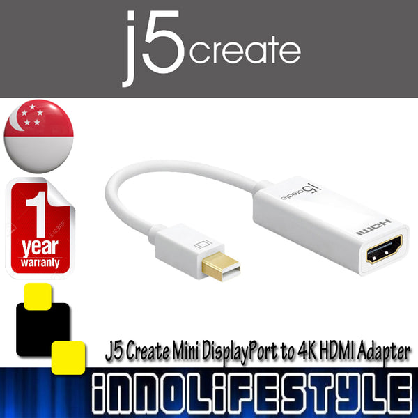 J5 Create JDA159 Mini DisplayPort to 4K HDMI adapter ★1 Year Warranty★