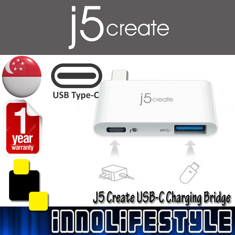 J5 Create JCH349 USB 3.1 Type-C Charging Bridge ★1 Year Warranty★