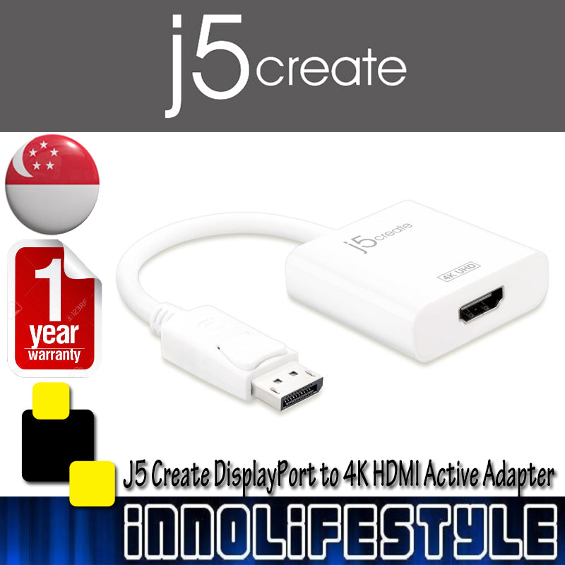 J5 Create JDA158 DisplayPort to 4K HDMI Active Adapter ★1 Year Warranty★