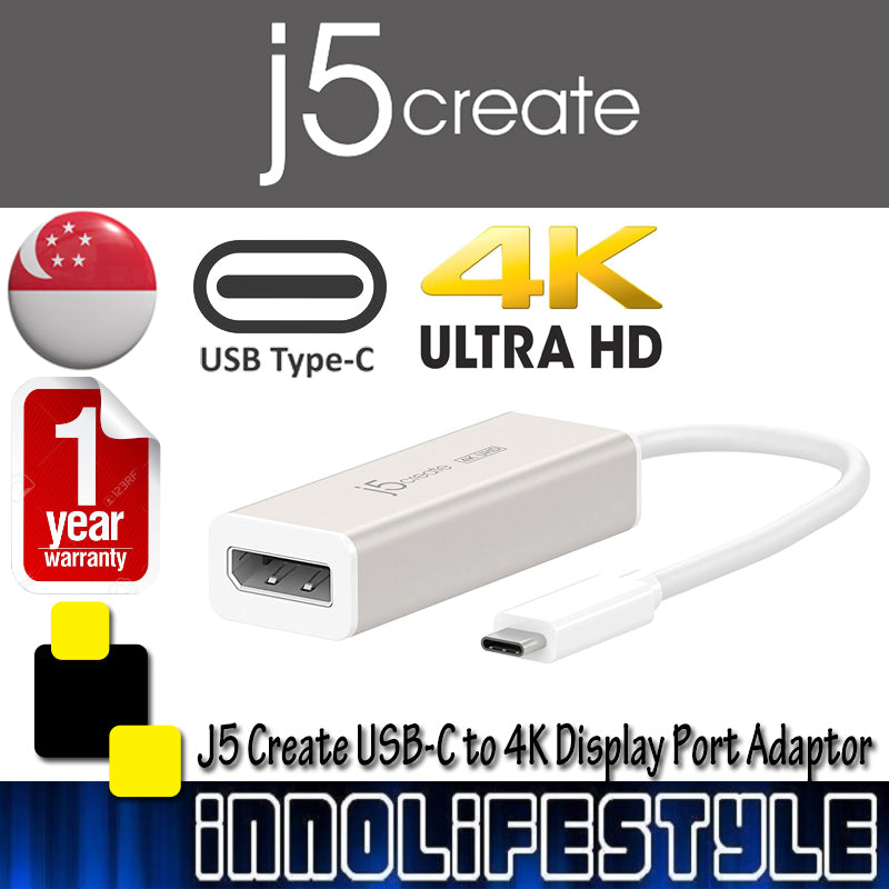 J5 Cteate JCA140 USB-C to 4K Display Port Adaptor ★1 Year Warranty★