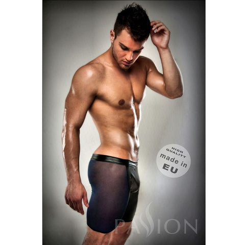 BOXER NEGRO TRANSPARENTE LARGO LEATHER