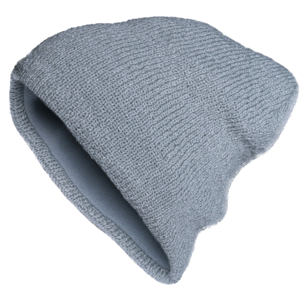 ac8206da72f Reflective Loose Beanie - Slouch-Style Knit Hat with Fleece Lining ...