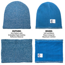 Bundle: Loose Beanie & Gaiter in Blue or Gray