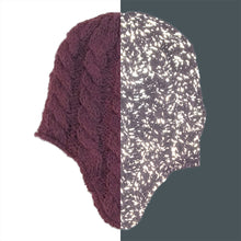 Adult Reflective Knit Hat with Earflaps (Old Mauve)