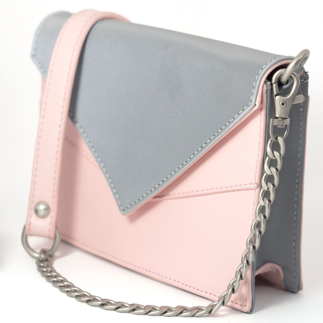 Reflective Purse in Pink