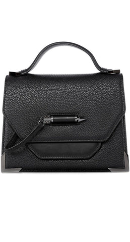 Mackage Keeley Dual Leather Crossbody Shoulderbag In Black