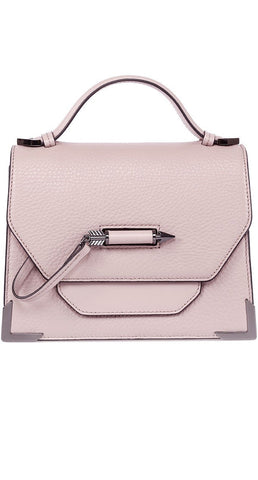 Mackage Keeley Dual Leather Crossbody Shoulderbag In Blush