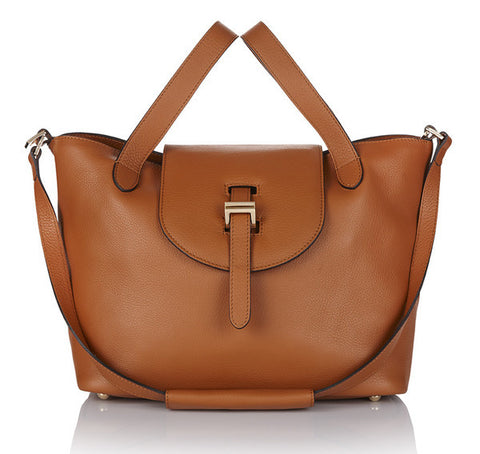 Meli Melo thela Medium Zipper Handbag-Tan