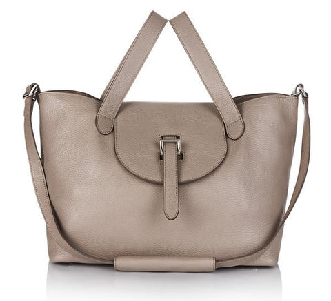 Meli Melo thela Medium Zipper Handbag-Taupe