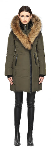 Mackage Kay Long Army Winter Down Coat With Fur Hood