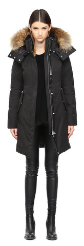 Mackage Kerry Long Black Winter Down Parka With Fur Wood