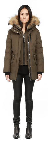 Mackage Marla Army Winter Down Parka With Fur Hood