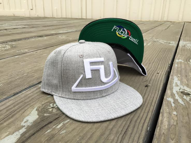 FuBarbell Snap Back Hat in Grey