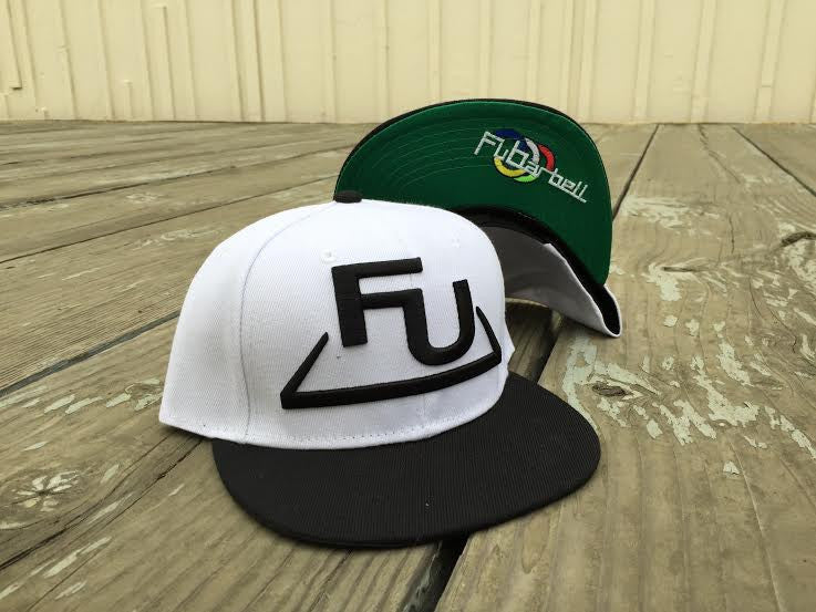 FuBarbell Snap Back Hat in White