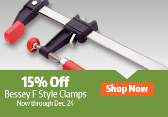 15 percent off Bessey F Style Clips