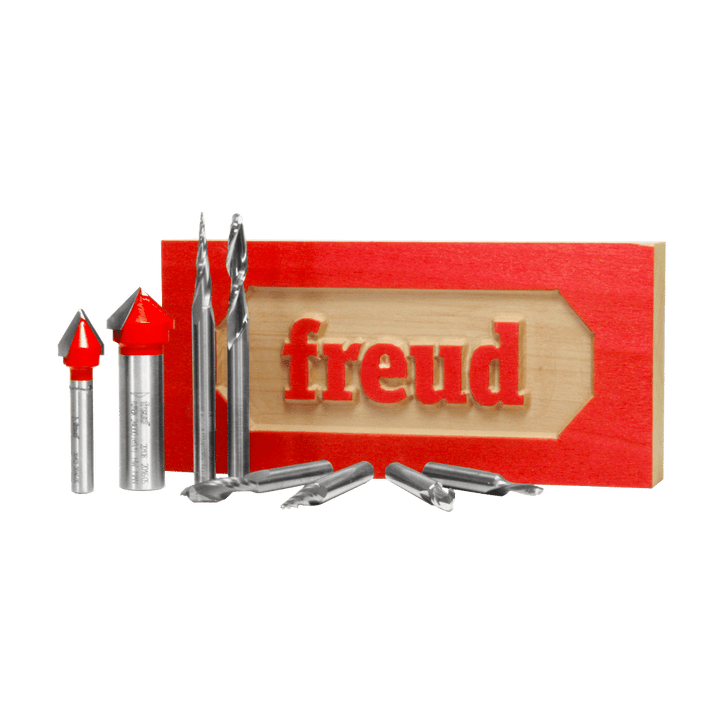 Freud 8 Piece CNC Router Bit Signmaking Set