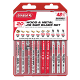 Diablo 20 pc T‑Shank Jig Saw Blade Set for Wood & Metal