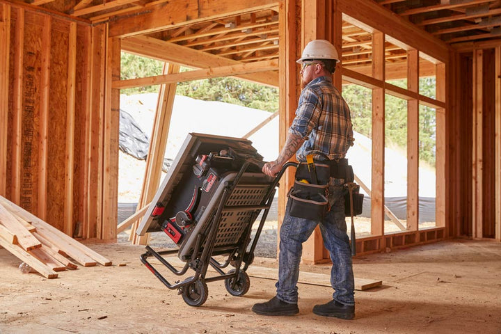 SawStop Jobsite Saw Pro Features Large 8 Inch Multi-Terrain Wheels