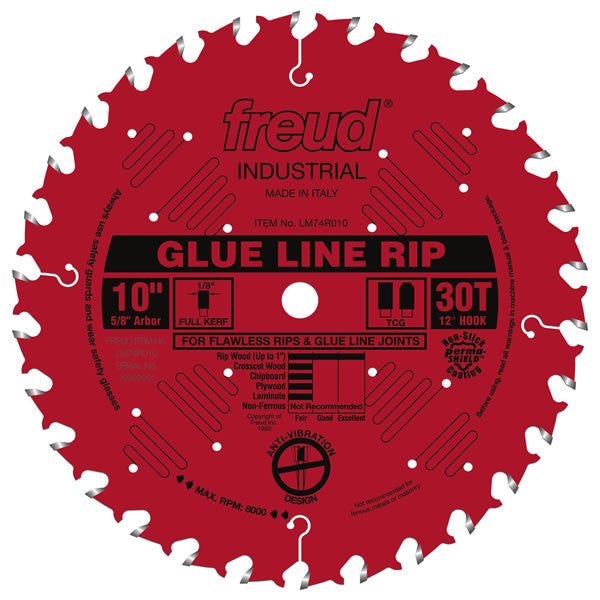 "10"" Industrial Glue Line Ripping Blade - Freud - OakTree Supplies"