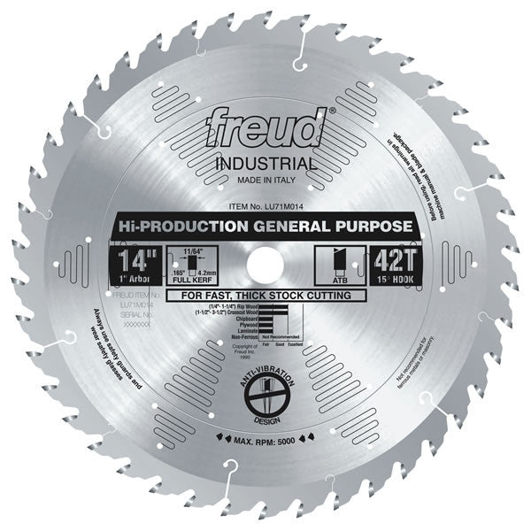 "14"" High-Production General Purpose Blade - Freud - OakTree Supplies"