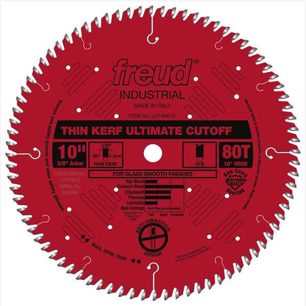 Thin Kerf Ultimate Cut-Off Blade - Freud - OakTree Supplies