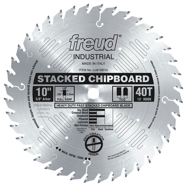 Heavy Duty Stacked Chipboard Blade