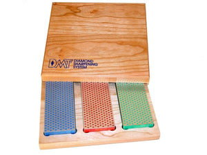 "DMT Three Stone 6"" Diamond Whetstone™ Set in Hardwood Box"