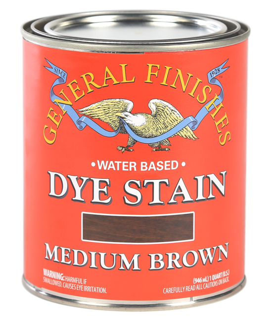 General Finishes Water-Based Dye Stain (Pint)